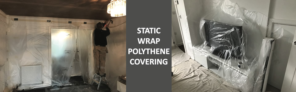 static wrap polythene covering