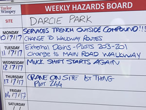 weekly hazard boards